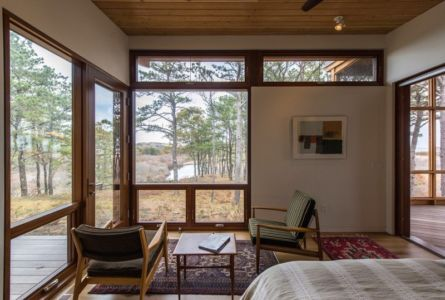 chambre - Long Dune Residence par Hammer Architects - Truro, Usa