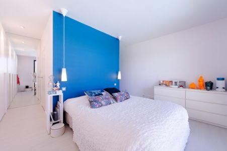 chambre - Maison bois béton par Ideaa architectures - Colmar, France - Photo Alain-Marc Oberlé