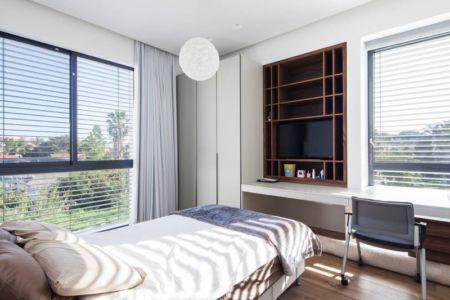 chambre - Maison contemporaine béton par Ron Aviv - Tel Aviv, Israël