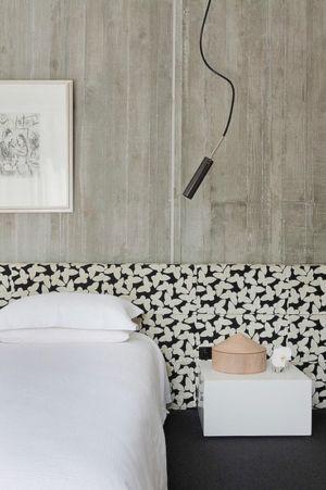 chambre - Maison contemporaine bois béton par BG Architecture - Melbourne, Australie