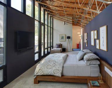 chambre - Midvale Courtyard House par Bruns Architecture - Madison, Usa