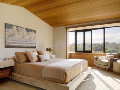chambre - Mountain Wood Residence par Walker Warner Architects -Woodside, Usa