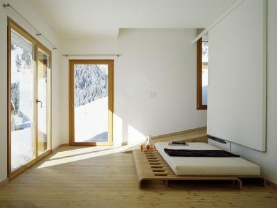 chambre - Panix résidence par Drexler-Guinand-Jauslin architekten, Panex, Suisse