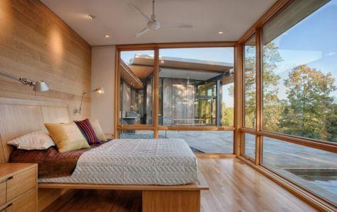 chambre - Piedmont Residence par Carlton Architecture - Asheville, Usa