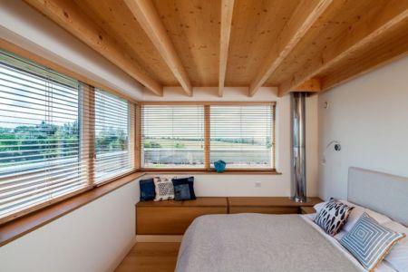 chambre - Stackyard House par Mole Architects - Palgrave, Royaume-Uni