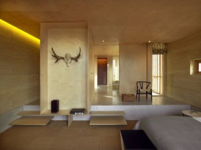 chambre - Stone house par Carl Fredrik Svenstedt architecte - Vallée du Luberon, France