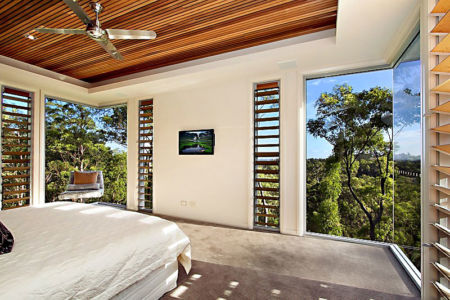 chambre - Treetops Residence par Artas Architects & D Pearce Constructions - Toowong, Australie