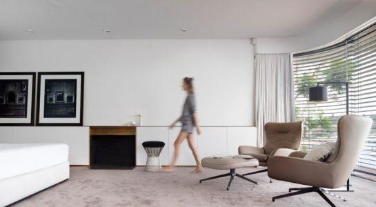 chambre - Waterfront House par Luigi Rosselli Architects - Sydney, Australie