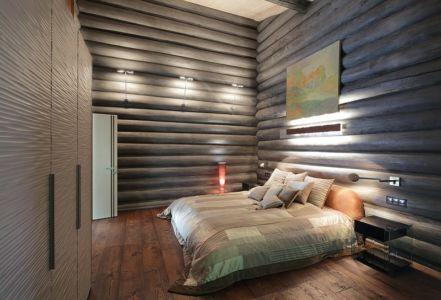 chambre - Wooden Cottage par Elena Sherbakova près de Moscou, Russie