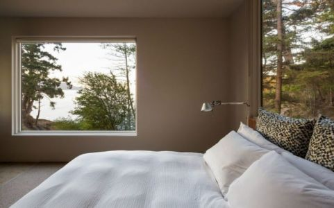 chambre - Woodsy-Retreat par Heliotrope Architects - Washington, USA