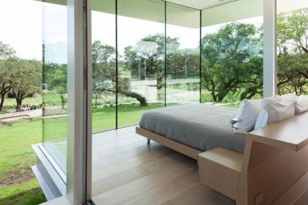 chambre é grande baie vitrée - Vineyards-Residence par Swatt Miers Architects - Californie, USA
