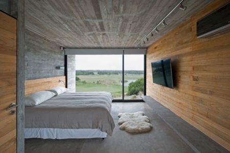 chambre & écran TV - House-three-forms par Luciano Kruk - Buenos Aires, Argentine