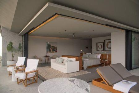 chambre & accès balcon étage - luxury residence par Ezequiel Farca - Marina de Puerto Vallarta, Mexique