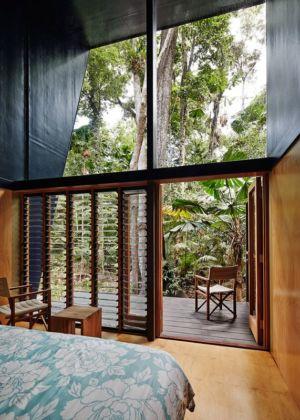 chambre & accès terrasse - house-tropical par m3architecture - Queensland - Australie