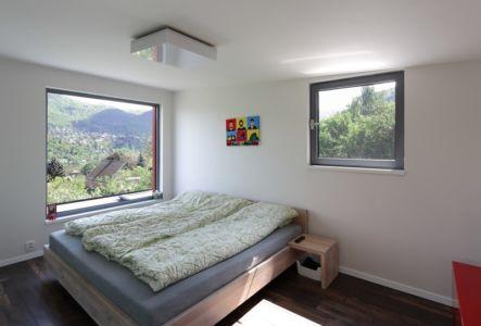 chambre adulte - House Vaňov par 3-1architekti - Vaňov, République Tchèque