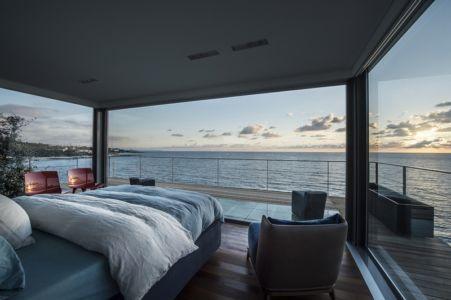 chambre avec vue sur mer - Amchit résidence par Blankpage architects -Liban