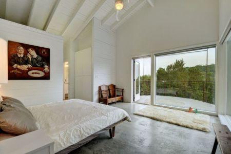 chambre & baie vitrée - westlake-home par Capstone Custom Homes - Westlake, USA