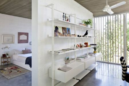 chambre & bibliothèque - House-for-Architect par Pitsou Kedem Architects - Ramat Hasharon, Israël