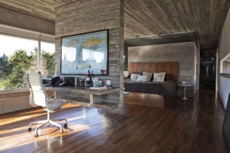 chambre bureau - Torcuato House par BAK arquitectos - Buenos Aires Province, Argentine
