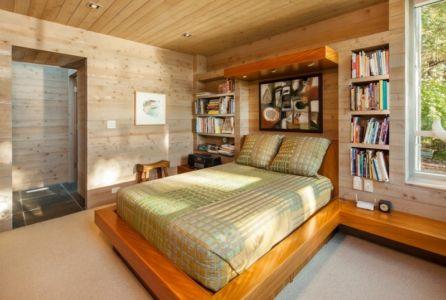 chambre d'ado - villa contemporaine en bois par Daniel Evan White - Saanich, Canada