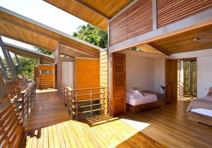 chambre deux lits - Holiday House par Benjamin Garcia Saxe - Costa Rica