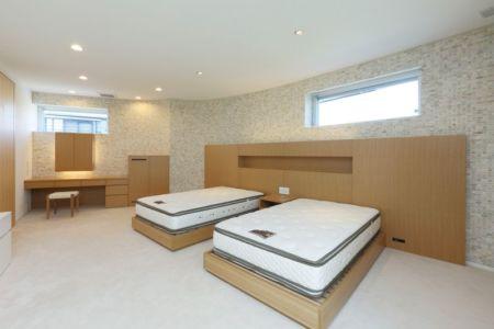 chambre double lits - YAM par ks-architects - Nagoya, Japon