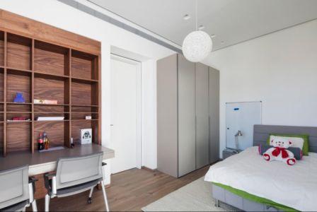 chambre enfant - Maison contemporaine béton par Ron Aviv - Tel Aviv, Israël