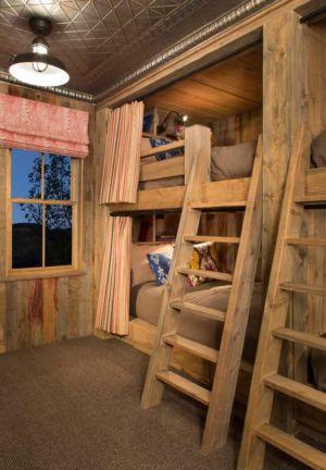 chambre enfant et lits superposés en bois - Rocky Mountain retraite par Beck Building Company - Aspen Springs, Usa