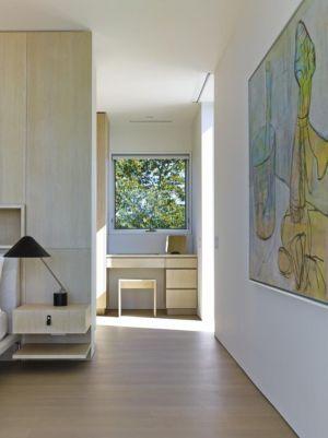 chambre et coiffeuse - Orchard House par Stelle Lomont Rouhani Architects - Sagaponack, Usa