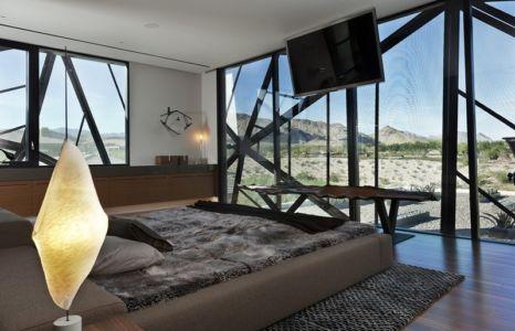 chambre et panorama - Tresarca House par assemblageSTUDIO - Las Vegas, Nevada, Usa