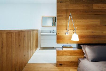 chambre et salle de bains - Dawes Road House par Moloney Architects - Ballarat, Australie