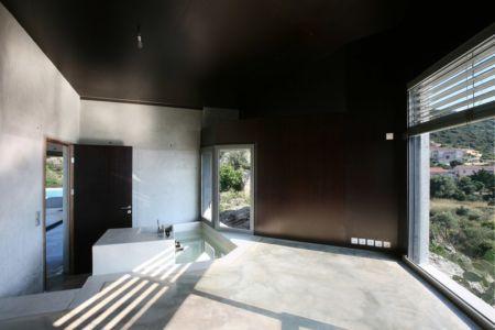 chambre et salle de bains - maisons contemporaines par Bona-Lemercier - Monticello, France