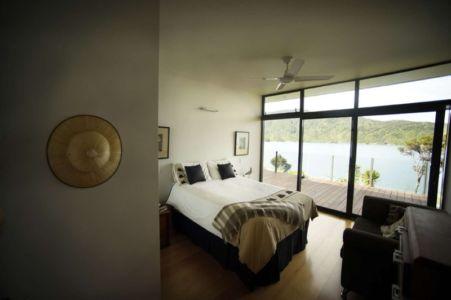 chambre et vue panoramique - Porotu Bach par studio MWA - Miritu Bay, New Zealand