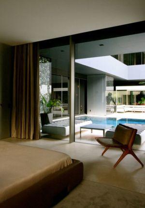chambre & grande baie vitrée - desert-rose par Massimiliano Camoletto - Koweit.