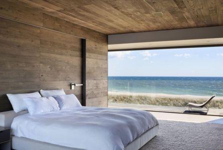 chambre & grande baie vitrée - sagaponack par Bates Masi Architects - Sagaponack, USA