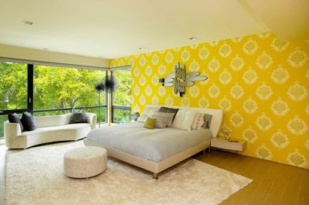 chambre jaune - Sands Point Residence par Narofsky Architecture - Long Island, Usa
