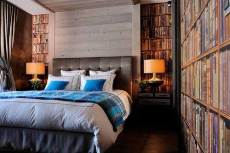 chambre lambris - Luxury Chalet par Jean-Marc et Anne-Sophie Mouchet - Courchevel, France