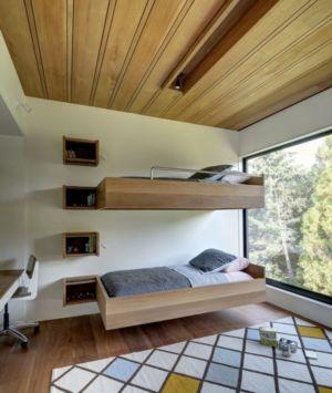 chambre lit superposé - Mothersill par Bates Masi Architects - Water Mill, Usa