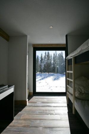 chambre lits superposés - Chalet Piolet par Chevallier Architectes - Chamonix, France