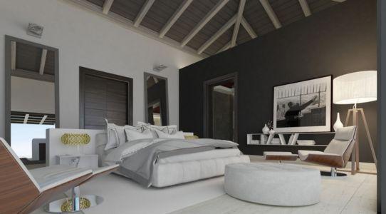 chambre - luxueuse villa par Ark Architects - San Roque, Espagne
