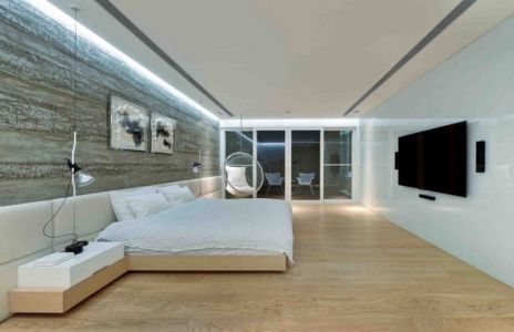 chambre minimaliste - construction écologique par Millimeter Interior Design Limited - Hong Kong