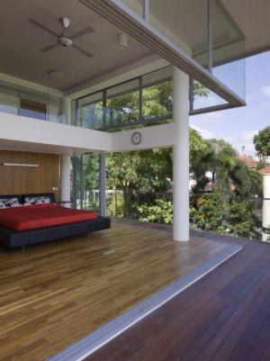 chambre ouverte - OOI House par Czarl Architects - Singapour
