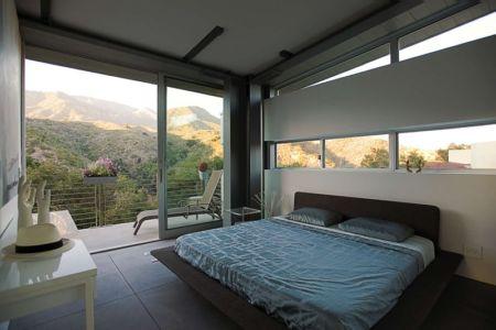 chambre parentale - Anthrazit House par Architects Magnus - Santa Barbara, Usa
