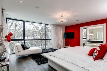 chambre parentale - Ashley Park House par Barroso Homes - Toronto, Canada