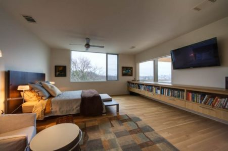 chambre parentale - City View Residence par Dick Clark Architecture - Austin, Usa