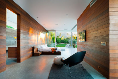 chambre parentale - F-5 Residence par Studio AR+D Architects - Indian Wells, Usa