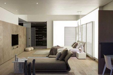 chambre parentale - House Sar par Nico van der Meulen Architects - Johannesbourg, Afrique du Sud