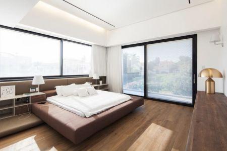 chambre parentale - Maison contemporaine béton par Ron Aviv - Tel Aviv, Israël