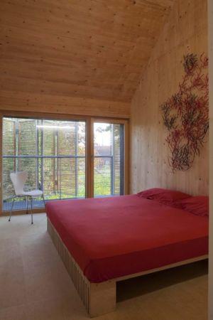 chambre parentale - Witzmann résidence par Karawitz Architecture - France -  Photo Nicholas Calcott