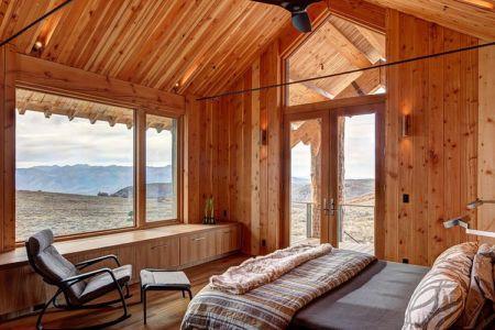 chambre parentale - Wolf Creek Ranch par S+D Architects - Utah, Usa